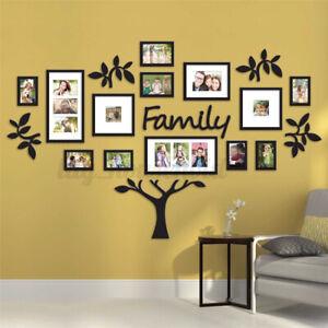 Wandtattoo Baum Schwarz Fotorahmen Familien Stammbild Wand Bilderrahmen Haus