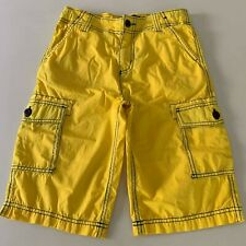 "Mini Boden Awesome Boys Yellow ""CARGO SHORTS"" 10-12 years. So Comfy! GREAT!"