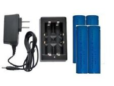Universal Li-Ion Charger + 4-Pack 18650 3.7 Volt Lithium Ion 2200 mAh Batteries