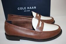 NIB COLE HAAN Size 9 Women's Sequoia Ivory Leather PINCH CAMPUS PENNY Loafer