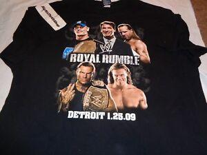 Royal Rumble Wrestling PPV T Shirt 2009 WWF WWE XXXL 3XL Detroit Edge Jeff Hardy