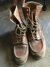 Vintage Sears Work Boots 5.5 Mens Leather Red Wing Style US Made Motorcycle