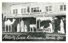 Kissimmee, FL / Nativity Scene 1952 / Front of Orange Blossom Hotel / Lot T367