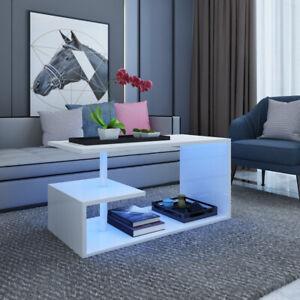Small Large Coffee Tea Table Storage Sofa Side S Shape Living Room Modern Decor