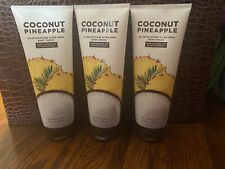 3 Bath & Body Works COCONUT PINEAPPLE Body Cream ~ 8 Fl Oz ~ Brand New