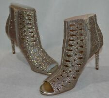 Nine West Women's Rilynno Gold Cutout Peep-Toe High Heels-Size 7.5 / 8 NWB