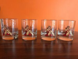 Brand New 4x Sailor Jerry Spiced Rum Glass 50's Pinup (Very Rare) A