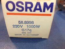 OSRAM STUDIO LAMP Projektorlampe 230V 1000W G 17q  58.8998 MADE IN GERMANY