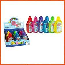 12 x DR. BUBBLE BOTTLE SOLUTION 130ml   Bubble Blower Bubble Wand Kids Party Toy