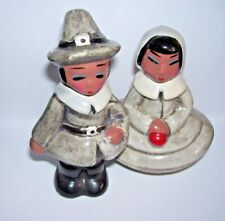 Antique Eskimo Salt and Pepper Shakers with cork Japan