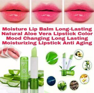 Moisture Lip Balm Long-Lasting Natural Aloe Vera Lipstick Anti Aging Gloss Cosme