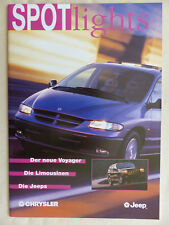 Chrysler Jeep Programm 1996 - Voyager Viper Cherokee - Prospekt Brochure 12.1995
