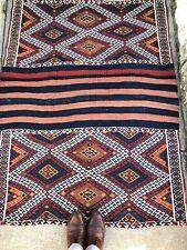 4x5 Baloch Vintage Handmade Persian Bakhtiari Tribal Runner Rare Style Antique