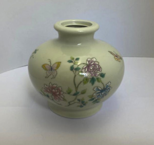 Cho Cho San Fransisco Takahashi Vase Butterflies Florals Made in Japan 7