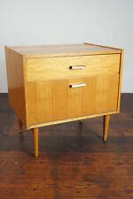 60er Vintage Mini Sideboard Nachtkommode Ahorn Nachttisch Mid-Century