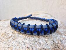 COMPOUND BOW WRIST SLING Royal Blue Gray With Black X Weave