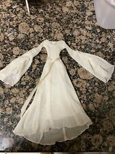BARBIE DOLL LORD OF THE RINGS ELF GALADRIEL  IVORY EVENING GOWN DRESS 2004