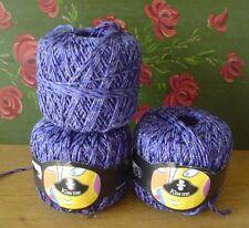 Schewe Wolle Effektgarn KISS ME 130 gr original echt lila made in Italy Perlmutt