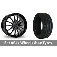 "4 x 16"" Fox Racing FX004 Black Alloy Wheel Rims and Tyres -  195/60/16"
