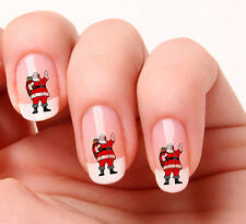 20 Nail Art Decals Transfers Stickers #07 -  Santa Christmas
