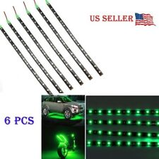 "6 PCS Green 12V 12"" Flexible LED Strip Light Waterproof IP68 For Car Truck Boat"