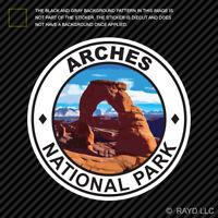 Arches National Park Sticker Premium Die Cut Vinyl hike camp ut utah