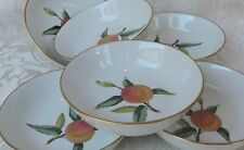 6 Coppette macedonia Royal Worcester  Fine Porcelain Evesham 6 Fruit Bowls 1980
