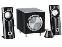 LAUTSPRECHER BOXEN SPEAKER ACTIVE STEREO 2.1 MIT SUBWOOFER-SOUNDSYSTEM