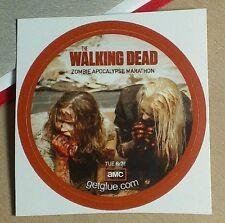 WALKING DEAD ZOMBIE GIRLS EATING WALKER APOCALYPSE MARATHON TV GET GLUE STICKER