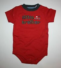 New Gymboree Boys Little Brother Bodysuit Top 3-6m NWT Rust Color Mr. Tow Truck