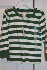 NEW! OLD NAVY Green Striped Shirt Top 18-24 Mos NWT