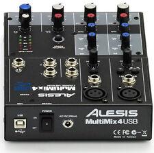 NEW Alesis Multimix 4 Channel USB Desktop Mixer Interface