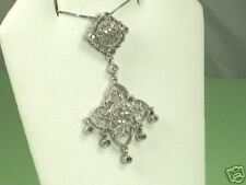 Vintage Style Sterling and .34 ct Diamond Pendant