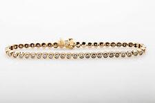 Designer $10,000 5ct VS G Diamond BEZEL SET 18k Yellow Gold Tennis Bracelet