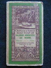 Vintage Ordnance Survey Folding Map - 1926 - Salisbury, Winchester & Reading, 33