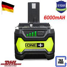 6.0Ah P108 Akku für Ryobi RB18L50 ONE + Plus Batterie 18V 6Ah Li-Ion Ersatzakku