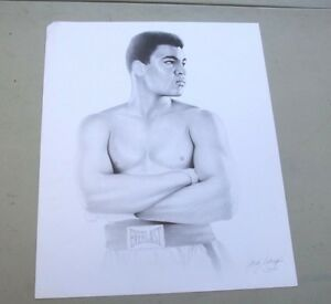Muhammad Ali By Gary Saderup Boxing Lithograph