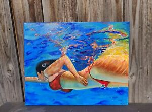 Hand Painted Acrylic Painting Artwork on canvas