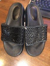 Gianni Bini Gb Girls Dillards Girls Slide On Sandals, Black Sparkle, Size 1M