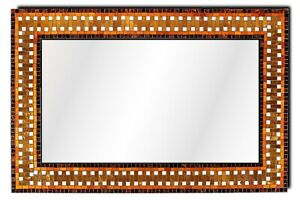 "Handcrafted Mosaic Decorative Rectangular Wall Mirror 24"" x 36"""