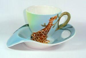 "Jameson&Tailor Manufaktur- Porzellan Tasse u. Untertasse  Design "" Giraffe1253 """