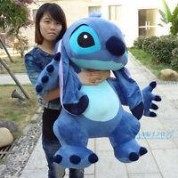 Big 35'' Lilo & Stitch Toy Stuffed Plush Giant Soft Doll Pillow Xmas Animal Gift