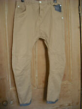 Soulstar Beige/Stone chino style turn up trousers/jeans arc style 32 L