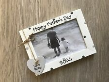 Personalised Happy Fathers Day Daddy Dad Photo Frame Keepsake Gift