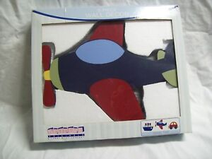 """Bedtime Originals """"Travel Time"""" 3 Piece Wooden Wall Decor 13"""" x 11"""" New in Box"""