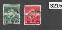 #3215  1935 Sc454-455 Young workers Youth stamp set / Third Reich Germany