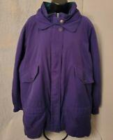 Mulberry Street Womens Bluish Purple Green Jacket Coat Size XL
