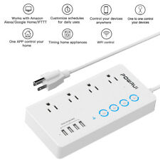 WiFi Smart Power Strip 4 Outlet 4 USB Charging Ports Surge Protector Alexa Home