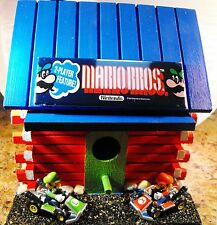 Mario Brothers Log Cabin Bird House