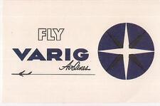 Vintage Fly VARIG Airlines Brazil Airways Airplane Luggage Sticker